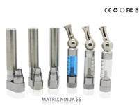 Wholesale Matrix Clearomizer - GS-Matrix Ninja Atomizer Electronic cigarette Clearomizer with rotatable stainless drip tip e-cigarette Free Shipping