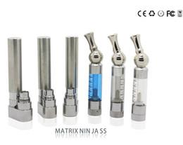 2019 troll de gotejamento GS-Matrix Ninja Atomizador cigarro Eletrônico Clearomizer com gotejamento inox rotativo e-cigarro Frete Grátis