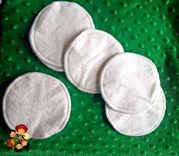 Envío gratis 100 UNIDS (50 pares) Almohadillas Reutilizables de Bambú de Enfermería A Prueba de agua Orgánica Llanura Lavable Pad