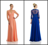 Spring 2015 collection mother of the bride dresses beads v- n...