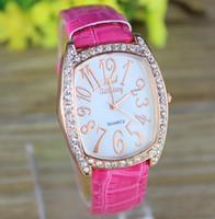 Wholesale Gogoey Quartz - Rose Gold Tonneau Casual Watch for Women Dress Watches PU Strap Analog Ladies Quartz watches Hot selling GoGoey Wristwatches