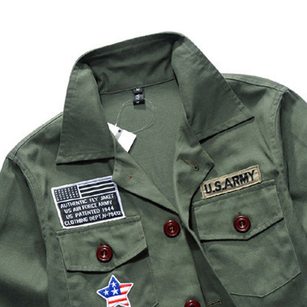 veste militaire homme us army les vestes la mode sont populaires partout dans le monde. Black Bedroom Furniture Sets. Home Design Ideas