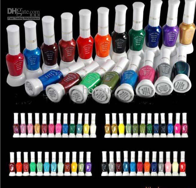 Ak04248x Colors 2 Way Nail Polish Pen Nail Art Glitter Decoration