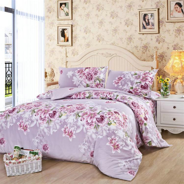 fast shipment home textiles korean aloe cotton bedding sets cozy floral pattern bed in a bag queen king size blue bedding sets queen ladybug bedding from