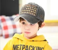 chapeaux beanie corée achat en gros de-Printemps de 2014 le nouveau bonnet Corée du Sud en gros bébé chapeau chapeau de printemps coton cinq étoiles casquette de baseball