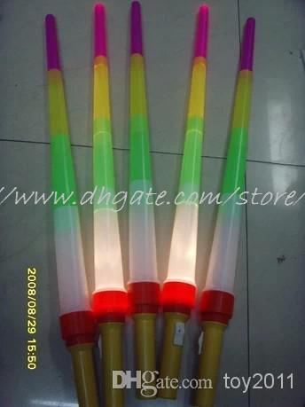 Al por mayor - Alta calidad telescópica LED Glow Sticks intermitente LED Juguetes Fluorescente Espada concierto de Navidad Carnaval Juguetes fuentes del partido