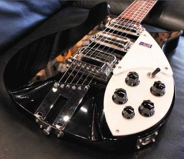 Alnico Chrome Toaster Rick Pickups Ric Electric Guitar 스톡 사진