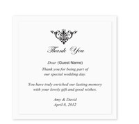 Wholesale Custom Made Wedding Invitations - Custom Made RSVP Thank card RSVP reply card Wedding Invitations come envelopes sealed card