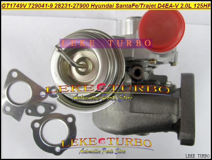 Turbocompresseur turbo pour HYUNDAI Santa Fe 2003-05, Trajet 2002- 2.0T Diesel D4EA-V 16V 2.0L Diesel GT1749V