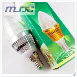 Wholesale E27 3w Led Candle - 3W Warm White E12 E14 E27 LED Candle Light Bulb 85-265V AC 300-330lm for Chandeliers Lamp