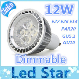 Wholesale Mr16 Pure White - High Quality 12W GU10 LED Par20 E27 E26 E14 GU5.3 Dimmable LED Spotlight Light bulb lamp Warm Pure Cool White Free shipping