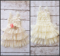 Wholesale Promotion Dress Girls - 2014 new design promotion price flower girls dresses lace flowers sash ankle length backless custom made free shipping cheap high quality