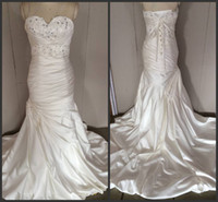Wholesale Promotion Wedding Dresses - 2014 in stock wedding dresses mermaid sweetheart sheath sexy fashion sweep train sequins promotion price free shipping custom made cheap