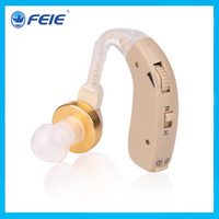 Wholesale Cheap Bte Hearing Aids - Free Shipping Analog Behind The Ear Cheap bte Hearing Aid with battery A675 S-136 for eldly