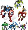 EMS Children Action Figures The Avengers Hulk Iron Man Captain America Distortion Toys Kids Cartoon Figure Child Gifts 15pcs lot D2256