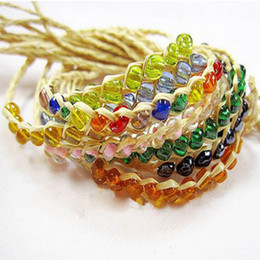 Wholesale Cheap Grass - Brand new popular cheap good grass bracelet wholesale lucky love grass wishing straw rope crystal bracelet accessories jewelry beads
