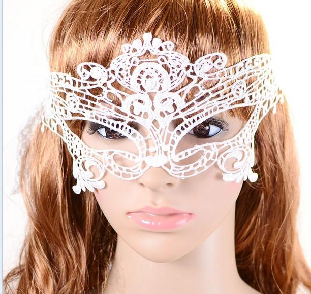 Hot Sexy women cutout hollow lace mask veil prom eye butterfly halloween masquerade fancy dress christmas theatre Catwoman COSPLAY Masks