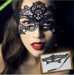 Wholesale Butterfly Cutout - Hot Sexy women cutout hollow lace mask veil prom eye butterfly halloween masquerade fancy dress christmas theatre Catwoman COSPLAY Masks