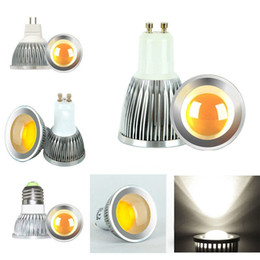 Wholesale Energy Saving Spotlight Lamp - High power CREE Led Lamp 5W LED MR16 GU10 E27 COB Spot Light Down Light Spotlight Best LED Bulb Light Bright Energy-saving Light Bulbs New