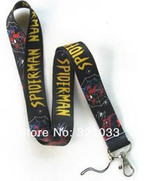 Envío gratis Spiderman The Fashion phone lanyard ID titular de la tarjeta de cordón al por mayor 30 unids desde fabricantes