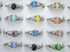 Colourful Natural Cat Eye Gemstone Stone Silver Tone Women's Rings R0029 New Jewelry 50pcs lot