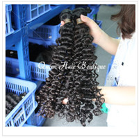 Wholesale Deep Wave Human Hair 5pcs - Queen Weave 5Pcs Lot Brazilian Virgin Hair Deep Wave 100% Human Hair Free Shipping