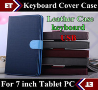 Wholesale Epad Ipad - SGpost 7 inch Colorful PU Leather Case Bag USB Keyboard Cover for Android Tablet PC MID Epad free shipping TB4