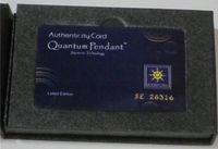 quanten-anhänger-halskette großhandel-2015 neue Scalar Energy Anhänger Halsketten Quantum Wissenschaft gesunde Anhänger mit Produktregistrierung Karten