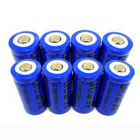 Wholesale Li Ion Battery For Flashlight - 8pcs 16340 CR123A LR123A 3.7V Rechargeable Li-Ion Battery for LED Flashlight Digital Camera Laser Pen Free Shipping