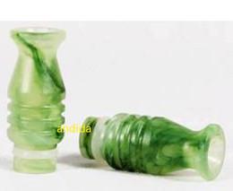 Wholesale Drip Vivinova - drip tips Drip tip 510 faux jade green emerald mouthpiece with for vivinova DCT atomizer ecigarette plastic tank H2 MT3 EVOD e-cig