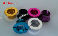 Wholesale Ego Battery Steel Rings - 2014!colored beauty rings ecig accessories ego battery thread cone,the U-DCT stainless steel drip tips adapter 510 to ego threading 100pcs