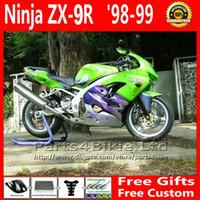 98 kawasaki zx9r verkleidungsset großhandel-7 Geschenke Verkleidungen für 1998 eingestellt 1999 Kawasaki Ninja ZX9R grün schwarz ABS Kunststoff Motorrad Verkleidung Kit ZX-9R ZX 9R 98 99 UY3