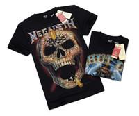 Wholesale Metal Tights - Men Clothes t shirt High-elastic Cotton Men's Short Sleeve Tight Shirt male T-shirt Metal Empire 3D t Round Collar short sleeve T-shirt DHL