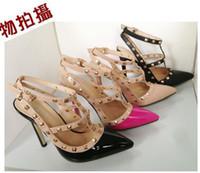 Discount wedding shoes studs - WOMENS FLATS HIGH HEELS STUDS SHOES SANDAL PUMPS NUDE