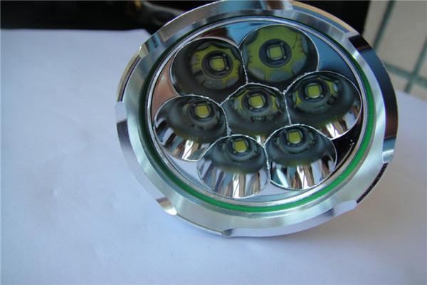 SKYRAY 9500 Lumen 3-Mode 7x CREE XM-L U2 LED Flashlight Torch Light 18650 Battery Free Shipping
