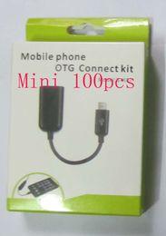 Micro USB мобильный телефон OTG разъем комплект кабель для Samsung / Nokia / HTC android сотовый телефон с розничной упаковке мини 100 шт. от Поставщики сотовые телефоны