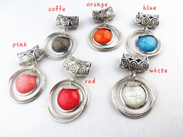 Wholesale Diy Scarves Jewelry - Round Scarf Pendant With Alloy Jewelry Slide Tube Multi Color Resin DIY Scarf Slids Accessories Charm Removable,Free Shipping