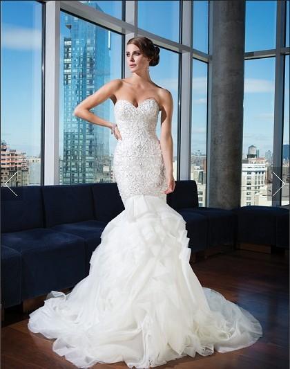 Mermaid Wedding Dress with Ruffle Bottom – Dresses for Woman