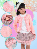 Wholesale watermelon formal dresses - Wholesale - Newest Baby Girl 3 Piece Suits T-shirt+Coat+Skirt Kids Princess Tutu Dress Children Lapel Sets