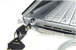 $enCountryForm.capitalKeyWord Australia - 300pcs lot Laptop PC Notebook Security Cable Chain Key Lock with 2 keys Free Shipping 0001