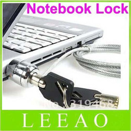 Laptop Cable Locks NZ - 180pcs lot LEAO Laptop PC Notebook Security Cable Chain Key Lock with 2 keys Free Shipping