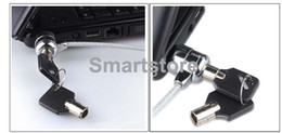 Wholesale Laptop Lock Key - 200pcs lot Laptop PC Notebook Security Cable Chain Key Lock with 2 keys Free Shipping 0001