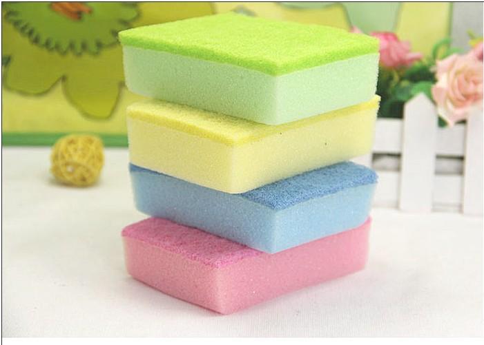 Envío gratis, esponja mágica esponja multifuncional esponja para platos de cocina Colorido estropajo, drop sh