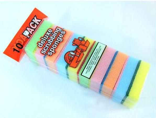 Livraison gratuite, éponge magique multi-fonctionnelle éponge cuisine éponge colorée tampon à récurer, drop sh