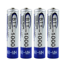Wholesale Free Remote Pc - 8 pcs AAA Battery 1.2V 1000mAh NI-MH NIMH Rechargeable Battery for Mp3 Mp4 TV Remote Free Shipping