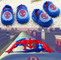 Wholesale Wholesale Spiderman Fabric - Drop ship!Handsome baby shoes,superman toddler shoes spiderman children shoes,non-slip  cartoon walker shoes,kids shoes.6pairs 12pcs.C
