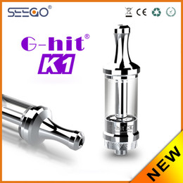 Wholesale G Hit Atomizer - 100% Original Seego G-hit K1 stainless steel Atomizer refill Pyrex glass suitable for 510 thread