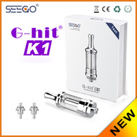 Wholesale G Hit Atomizer - 100% Original Seego G-hit K1 stainless steel Atomizer refill Pyrex glass suitable for 510 thread quick seller