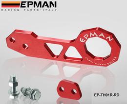 EPMAN Billet Aluminium car Rear Tow Hook Universal car such as for Skyline 200SX R33 S13 S14 EP-TH01R on Sale
