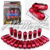 Wholesale Lug Nuts D1 Spec Red - Addmotor 20 X JDM D1 Spec Racing Lug Wheel Nuts Screw 1.25 Long Red Nissan Mazda Suzuki CS026